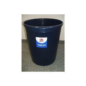 (業務用3セット)ジョインテックス 持ち手付きゴミ箱丸型11.8Lブルー N152J-B5 N152J-B5 N152J-B5 5個 3ca
