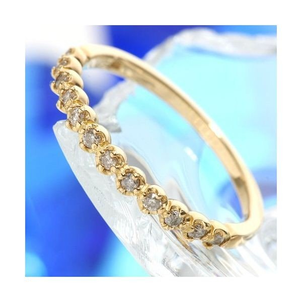 【着後レビューで 送料無料】 K18 ダイヤリング 指輪 エタニティリング 13号, インテリアエクスプレス 2e4b841d
