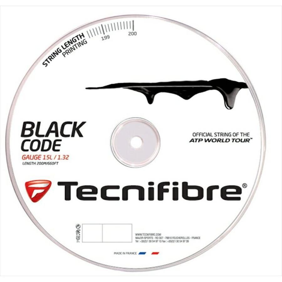 【日本製】 『即日出荷』「新パッケージ」Tecnifibre テクニファイバー 「BLACK CODE ブラックコード 200mロール TFR506」硬式テニスストリング ガット, SPEEDWAY 5818218e