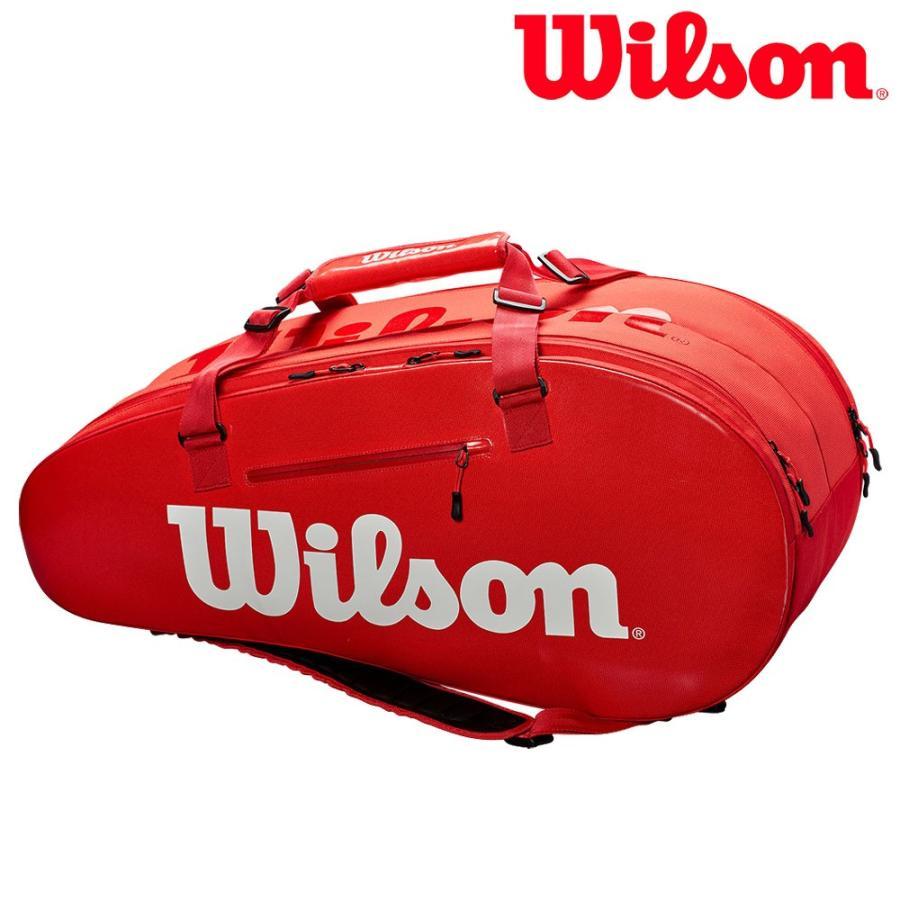ウイルソン Wilson テニスバッグ SUPER TOUR 2 COMP LARGE 赤 ラケットバッグ 9本入 WRZ840809
