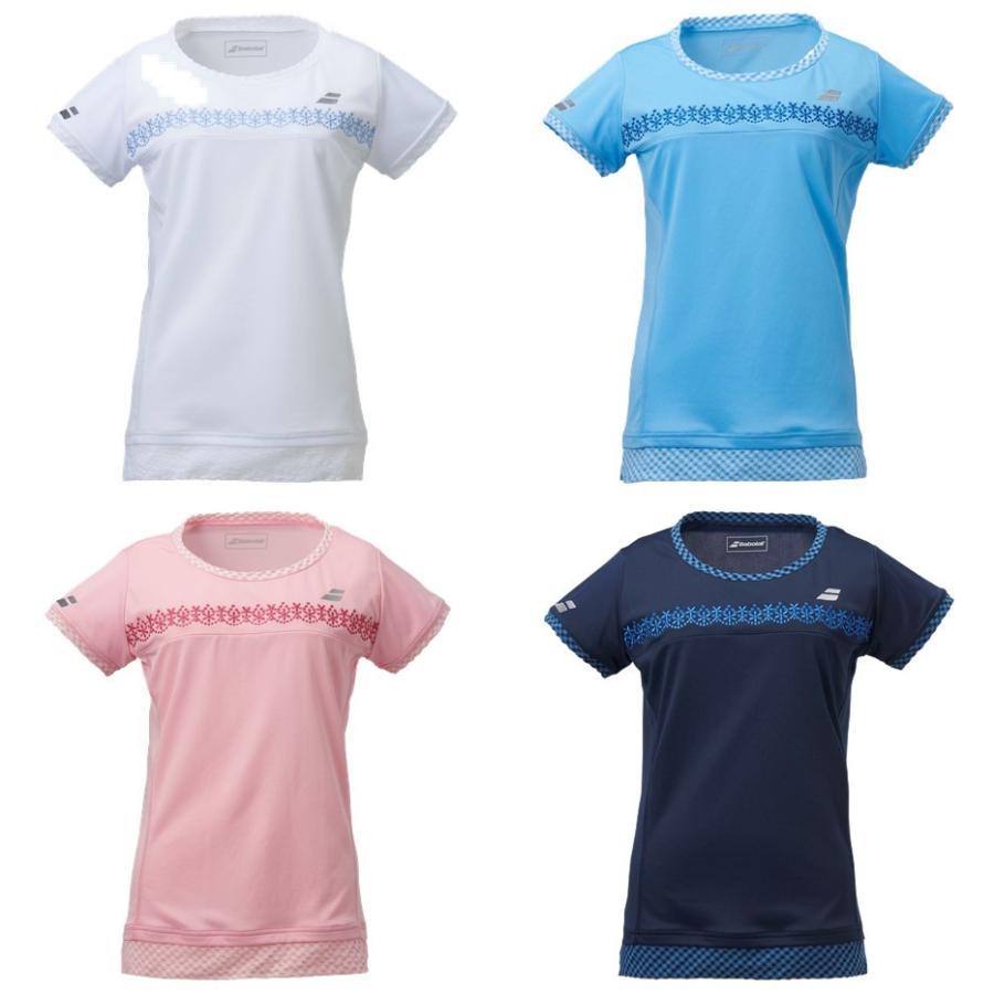 商い バボラ Babolat 通常便なら送料無料 テニスウェア レディース 2020SS ショートスリーブシャツ BTWPJA07 即日出荷