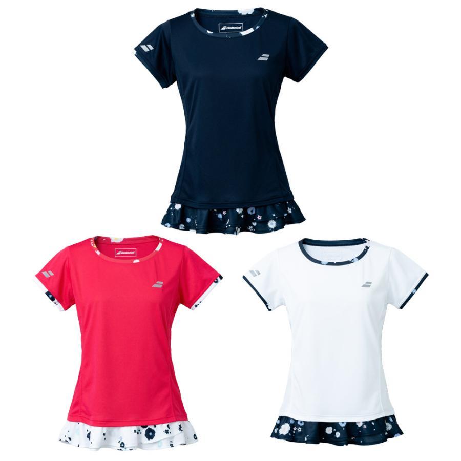 バボラ Babolat テニスウェア おすすめ特集 レディース PURE SHORT 2021SS SHIRT SLEEVE ショートスリーブシャツ 爆買い新作 BWG1326