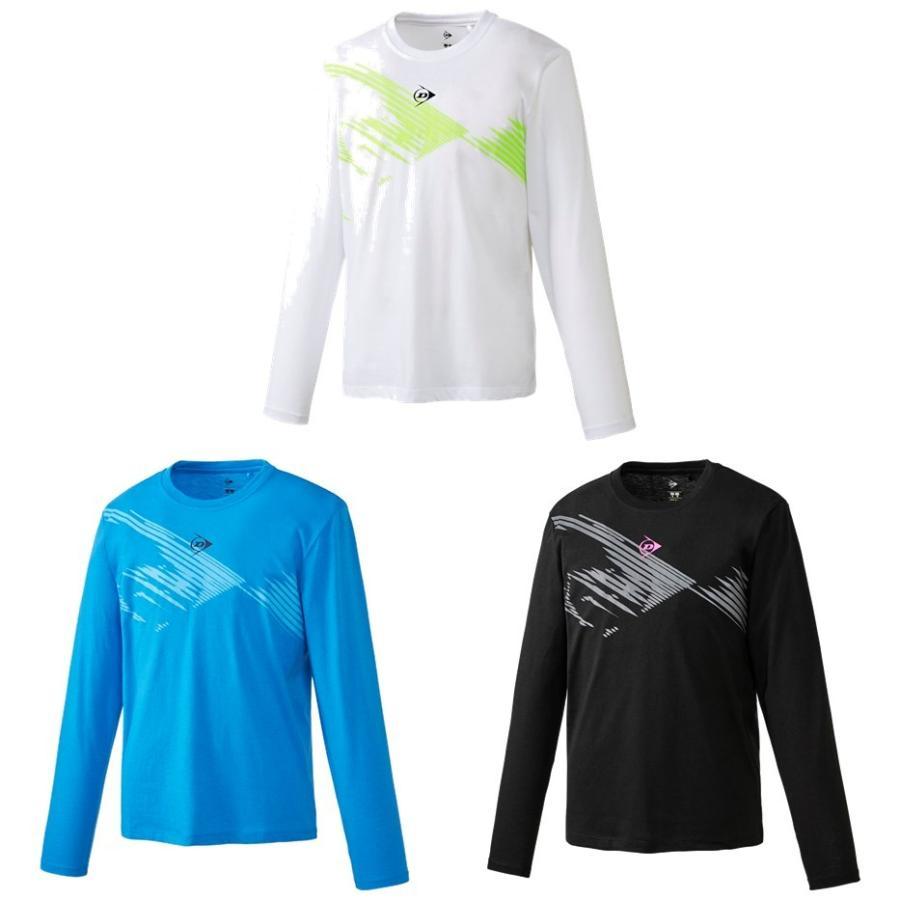 売れ筋ランキング ダンロップ DUNLOP テニスウェア 本物 ユニセックス 2020SS ロングスリーブTシャツ DAL-8004 即日出荷