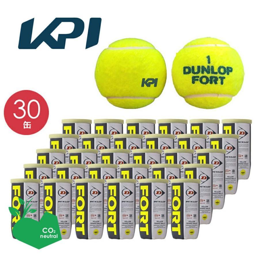 365日出荷 大注目 KPIオリジナルモデル DUNLOP ダンロップ FORT フォート 2個入 60球 5%OFF 1箱 テニスボール KPIロゴ 即日出荷 30缶