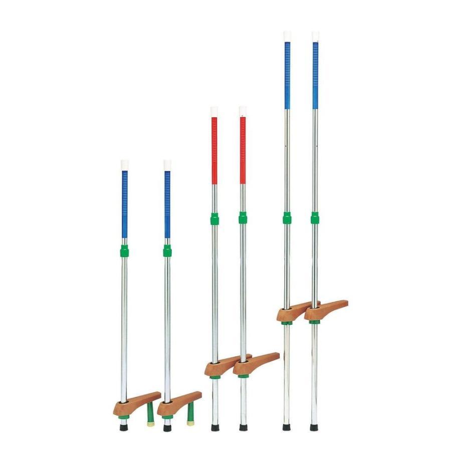 トーエイライト TOEI LIGHT 学校機器設備用品 秀逸 代引き不可 T2482B カラー竹馬スライド式185 ブルー