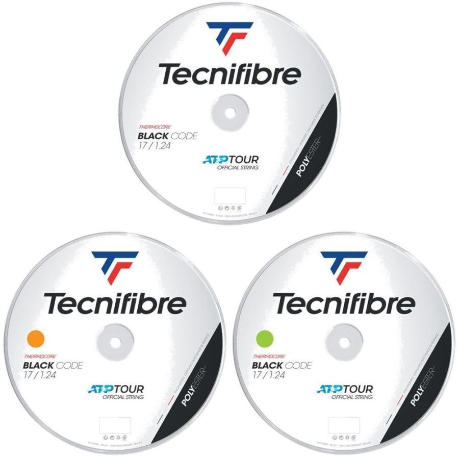 テクニファイバー Tecnifibre テニスガット 税込 ストリング BLACK CODE 1.24mm お歳暮 TFR411 200mロール ブラックコード TFSR401