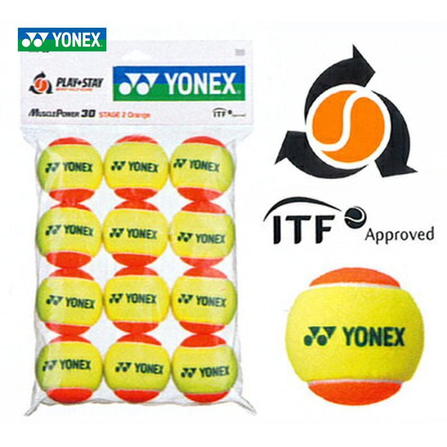 YONEX ヨネックス マッスルパワーボール30 STAGE2 メーカー公式 ORANGE キッズ TMP30 スーパーセール 12個入り ジュニア用テニスボール