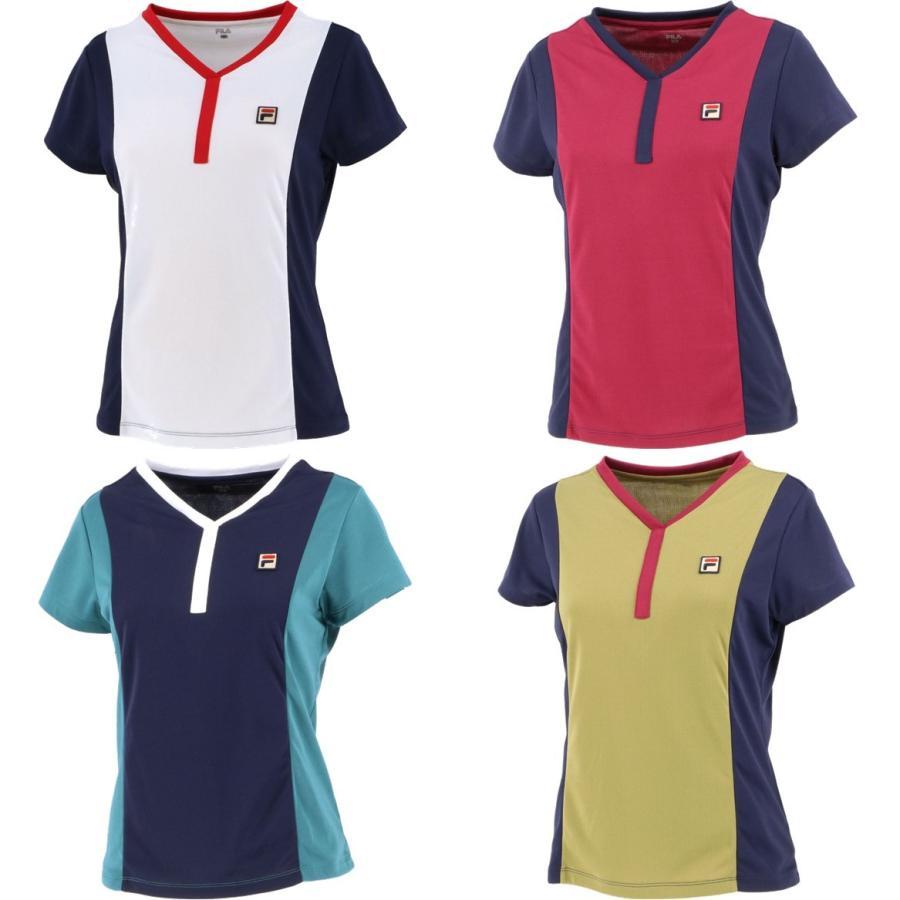 フィラ FILA テニスウェア レディース VL2355 ゲームシャツ 直営店 Seasonal Wrap入荷 2021FW