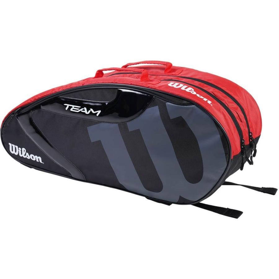 ウイルソン Wilson テニスバッグ 買取 ケース ラケットバッグ TEAM チームJ 6本収納可能 J 6PK 1.0 WR8008602001 セール価格