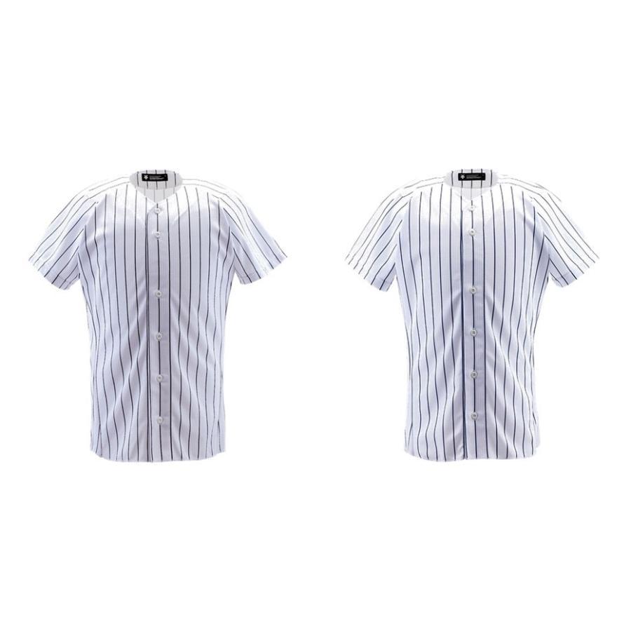 デサント DESCENTE 野球ウェア メンズ ユニフォームシャツ フルオープンシャツ ピンストライプ DB7000 2019FW