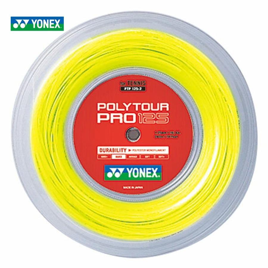 YONEX ヨネックス 「POLY TOUR PRO 125 ポリツアープロ125 240mロール PTP125-2」硬式テニスストリング ガット