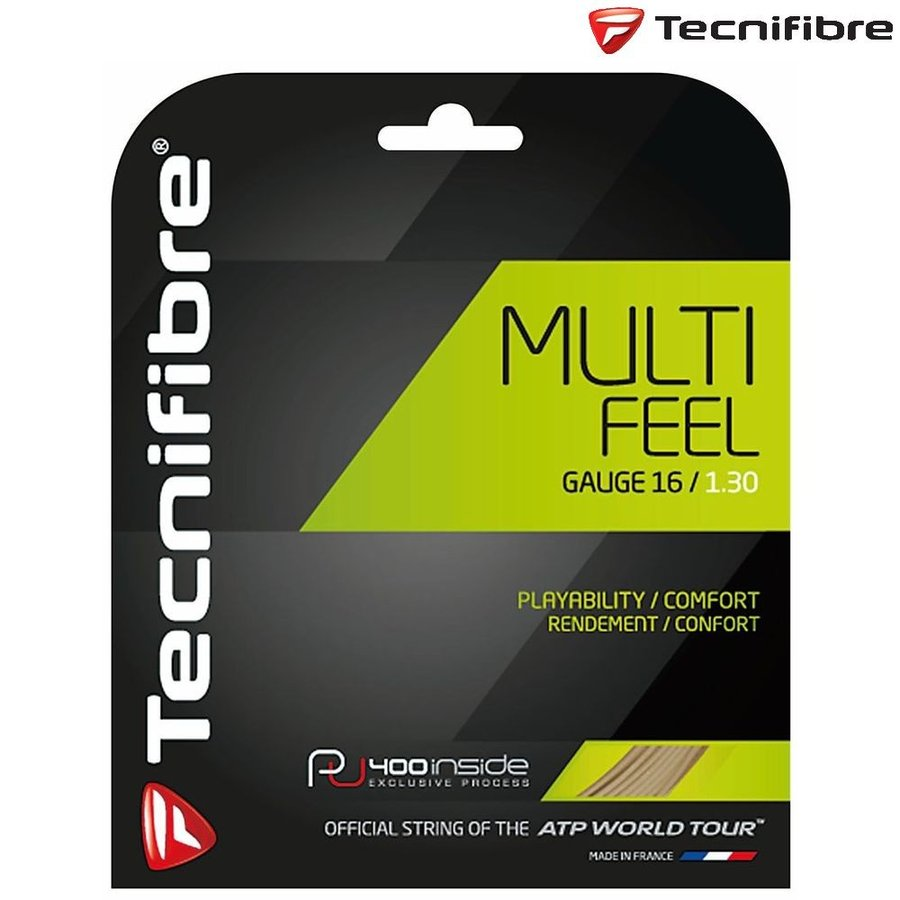 テクニファイバー Tecnifibre テニスガット・ストリング MULTIFEEL1.30 200M TFR921