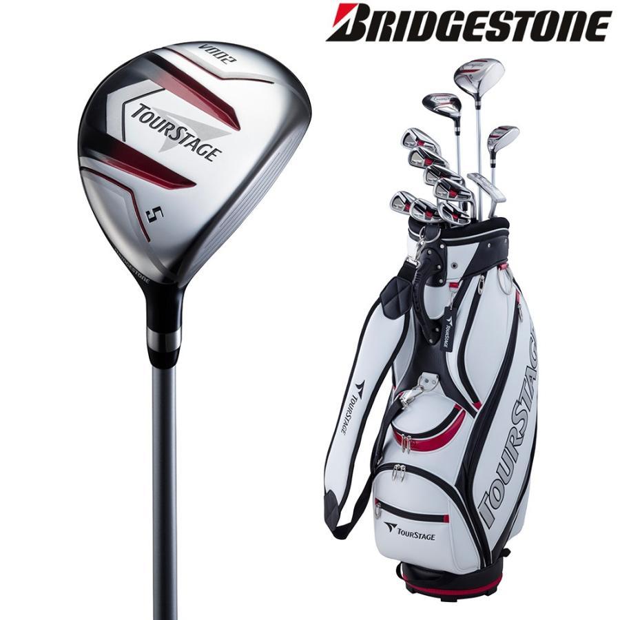 ブリヂストン BRIDGESTONE ゴルフセット商品 ユニセックス TOURSTAGE V002 キャディバッグ付11本セット カーボン:Rセット V2GBKCR