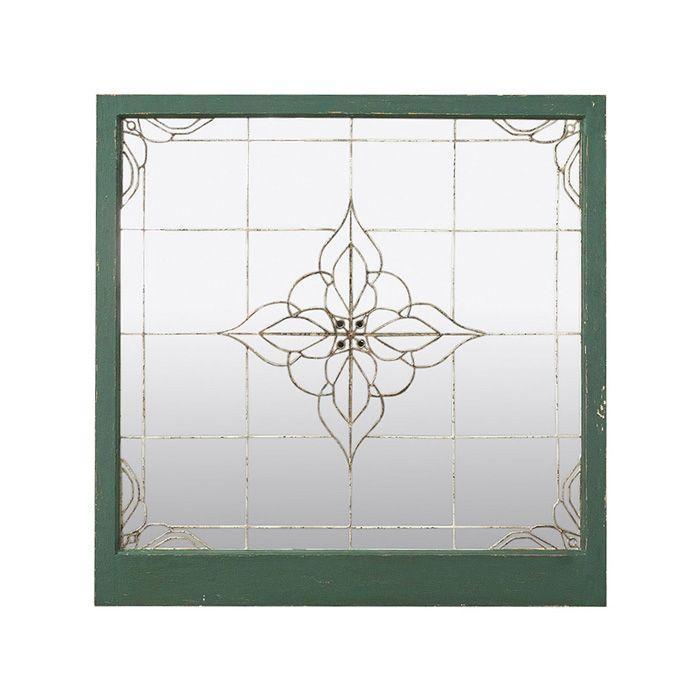 SHABBYCHIC DECO DECO MIRROR A 壁掛け鏡 ウォールミラー ワイヤーミラー 鏡 ミラー 壁掛けミラー 壁掛鏡 玄関鏡 インテリア雑貨 おしゃれ 送料無料