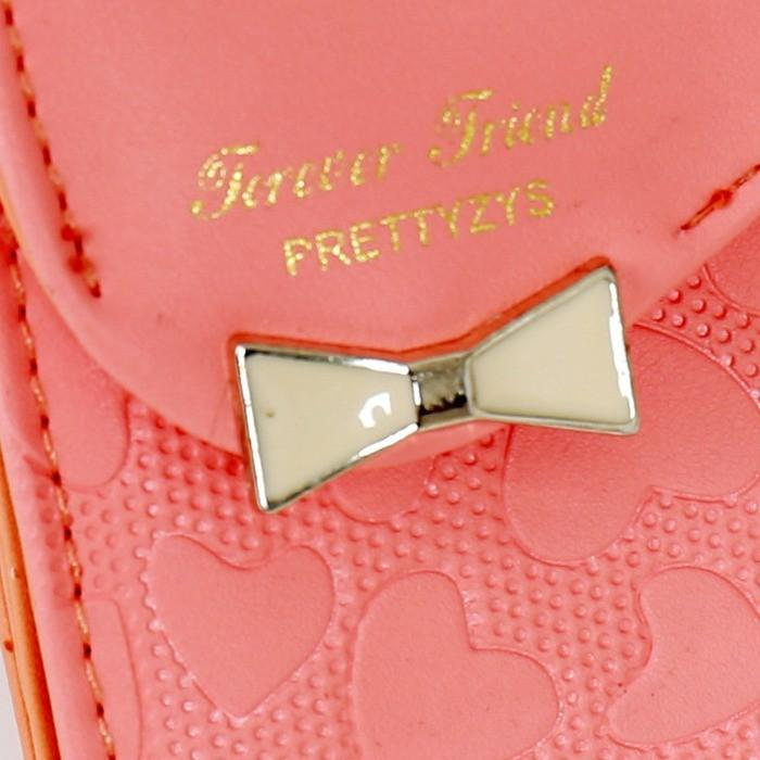 54cc27b7726f 三つ折り財布 リボン かわいい キュート ハート レディース プレゼント ...