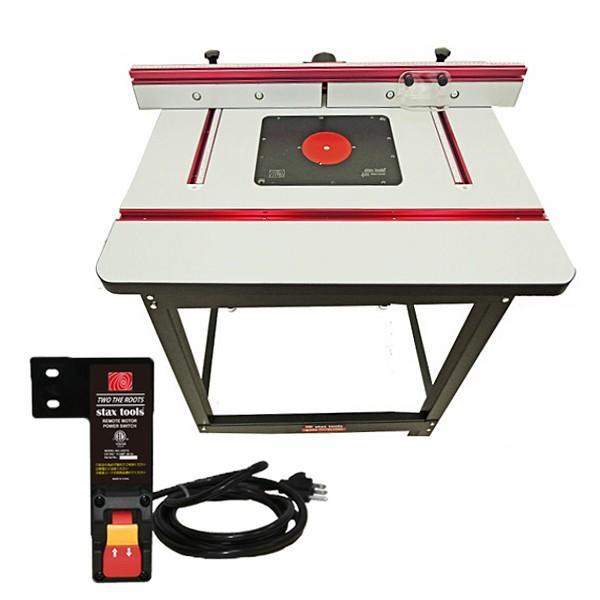 stax tools 401 WOOD COOKER - ルーターテーブル + リモートスイッチ (2点セット)  ●重量物/大型発送|kqlfttools