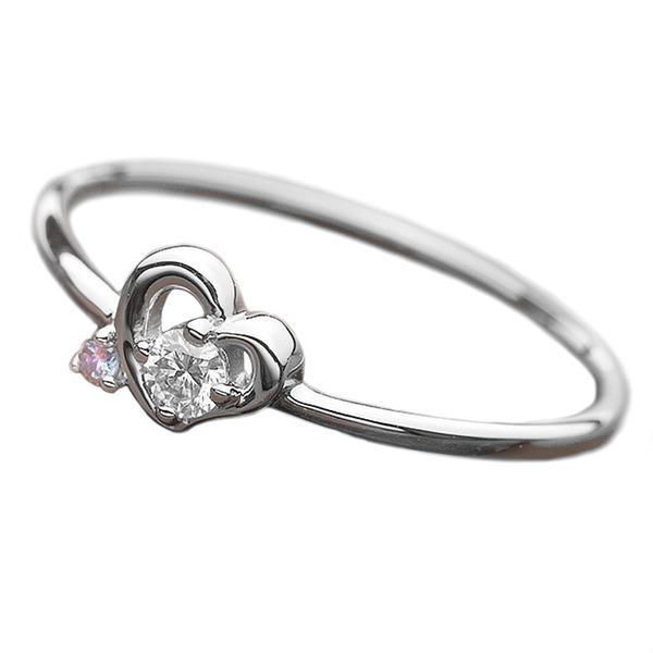 セール特価 ダイヤモンド リング ダイヤ アイスブルーダイヤ 合計0.06ct 10.5号 プラチナ Pt950 ハートモチーフ 指輪 ダイヤリング 鑑別カード付き, ハチノヘシ 13624080