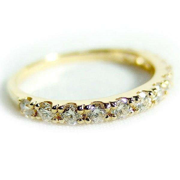 最大の割引 ダイヤモンド リング ハーフエタニティ 0.5ct K18 イエローゴールド 12号 0.5カラット エタニティリング 指輪 鑑別カード付き, FLISCO bf7fd713