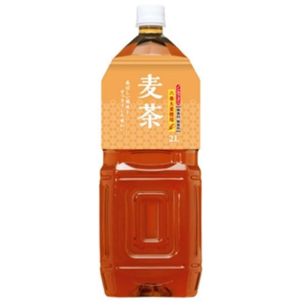〔まとめ買い〕桂香園 麦茶 2L×60本(6本×10ケース)ペットボトル〔国内六条大麦を使用〕
