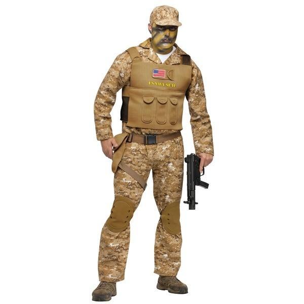 コスプレ衣装/コスチューム Fun world Navy Seal ADLT CSTM 〔迷彩服・ベスト・帽子・〕