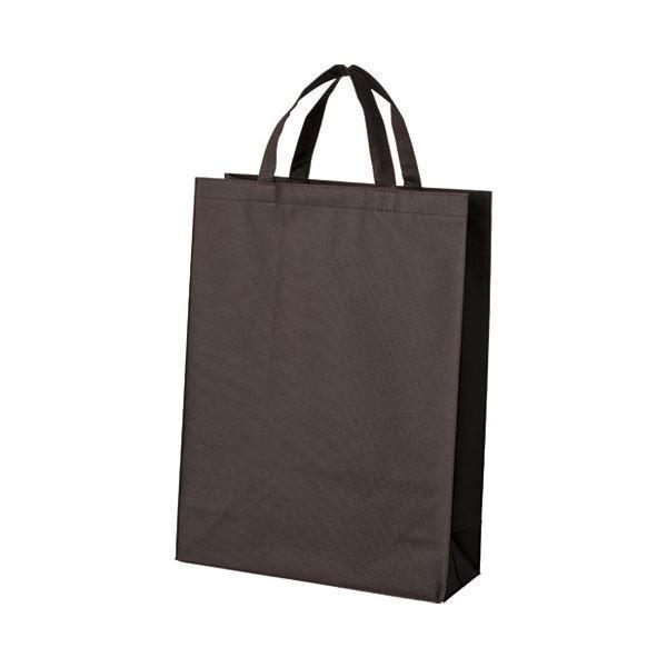 (まとめ)スマートバリュー 不織布手提げバッグ中10枚ブラウンB451J-BR〔×5セット〕