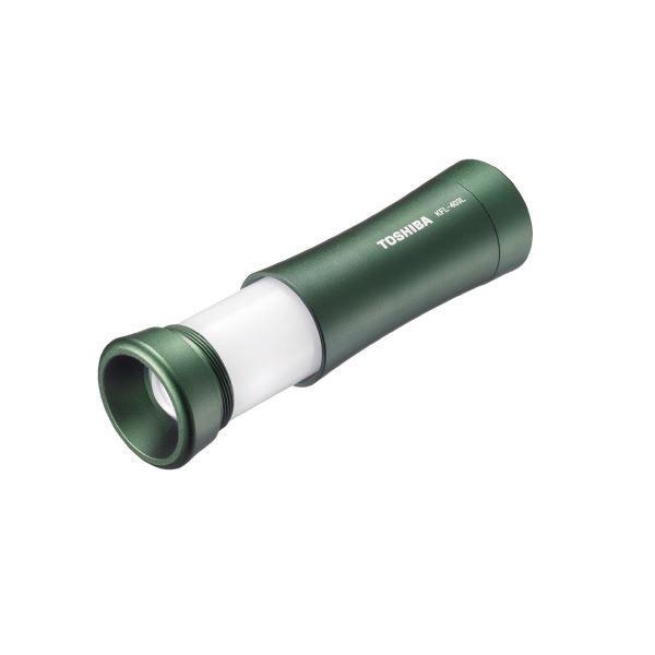 (まとめ)東芝 LEDランタン付ライトKFL-403L モスグリーン〔×30セット〕