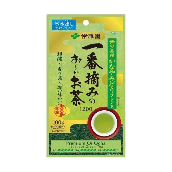 (まとめ)伊藤園 一番摘みのおーいお茶 100g 1袋〔×5セット〕
