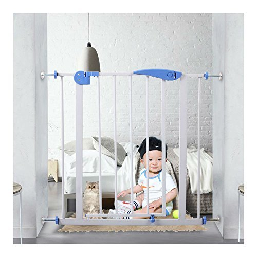 <新品>Baby Safety Gate Walk Through Child Infant Pet Dog Safety Lock Extra Tall Door