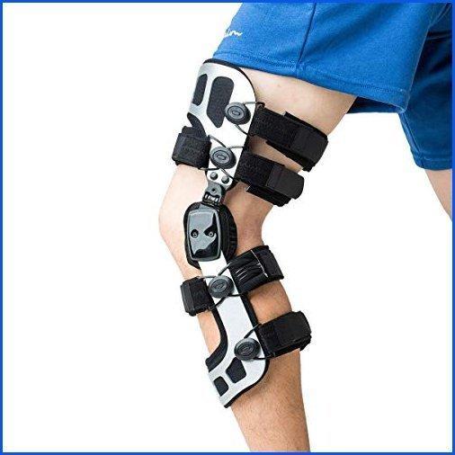 <新品>Orthomen OA Knee Brace Booste Instability of Knee Joint or Ligament Iinjury & Protect Knee Koint After Knee Surgery(M/Left)