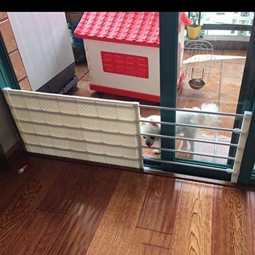 <新品>Indoor Safety Gates Extra Wide Child Gate Pet Gate for Dogs Cats Baby Barrier for Doorways Stair Hallway 53-130cm Wide Yellow (C