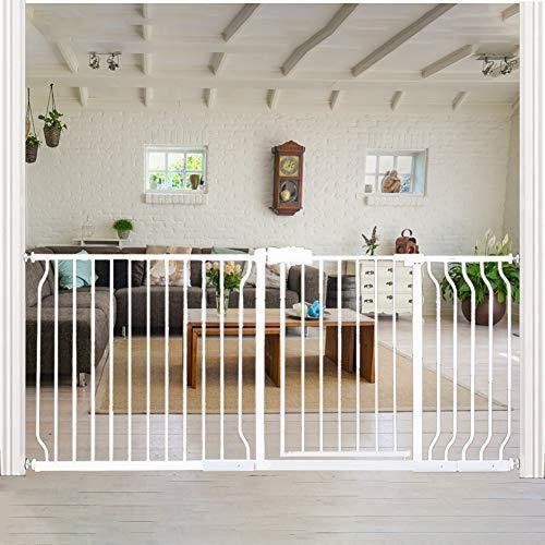 <新品>Extra Wide Baby Gate for Doorways Stairs Living Room Pressure Monuted Walk Through Safety Gate for Kids or Pets Dogs 67 Inch to
