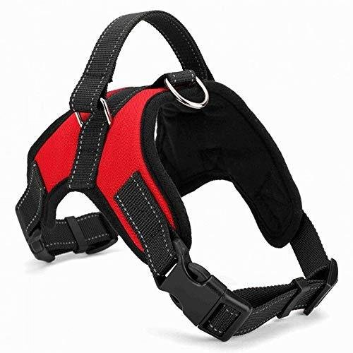 <新品>Heavy Duty & Adjustable No-Pull Dog Harness Handle Reflective Safety Pet Vest Walking Harness (s)