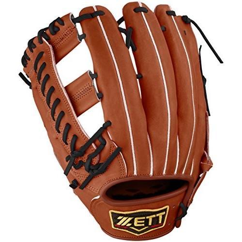 ZETT(ゼット) 野球 硬式 外野 グラブ(グローブ) プロステイタス (左投げ用) BPROG47 ウッディブラウン/イエロー