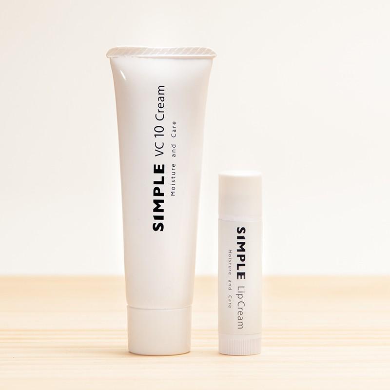 ワセリン 敏感肌 リップクリーム 【SIMPLE Lip Cream VC10 Creamセット】 シンプル 保湿 無添加 美容クリーム ドクターズコスメ ksc