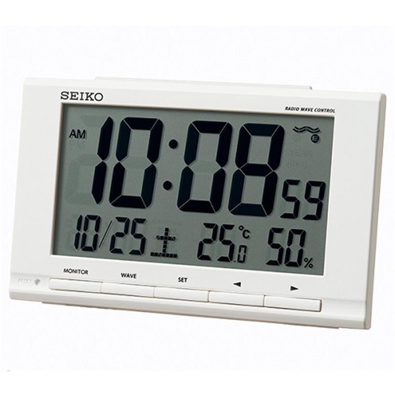 セイコークロック 電波デジタル置き時計 毎週更新 訳あり SQ789W