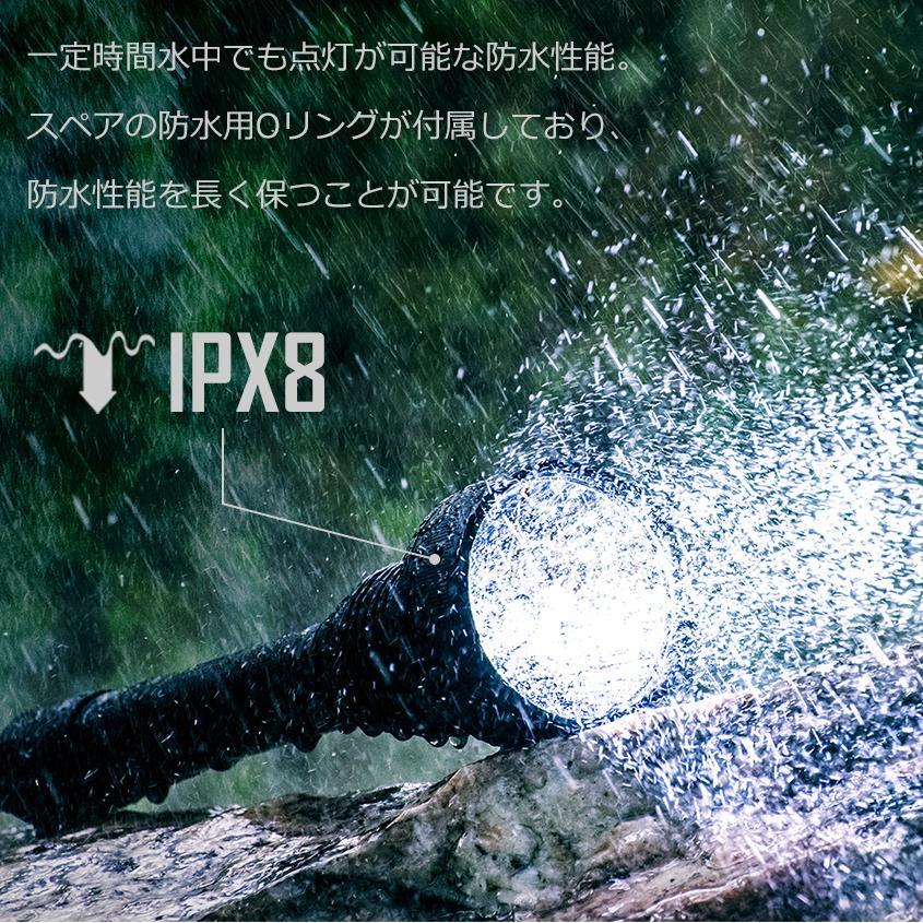 懐中電灯 led 強力 軍用 フラッシュライト 最強 ルーメン 2300lm サーチライト 最長照射 1000m ハンディライト 【Trust Fire T70 バッテリーセット】 18650電池|ksgarage|04