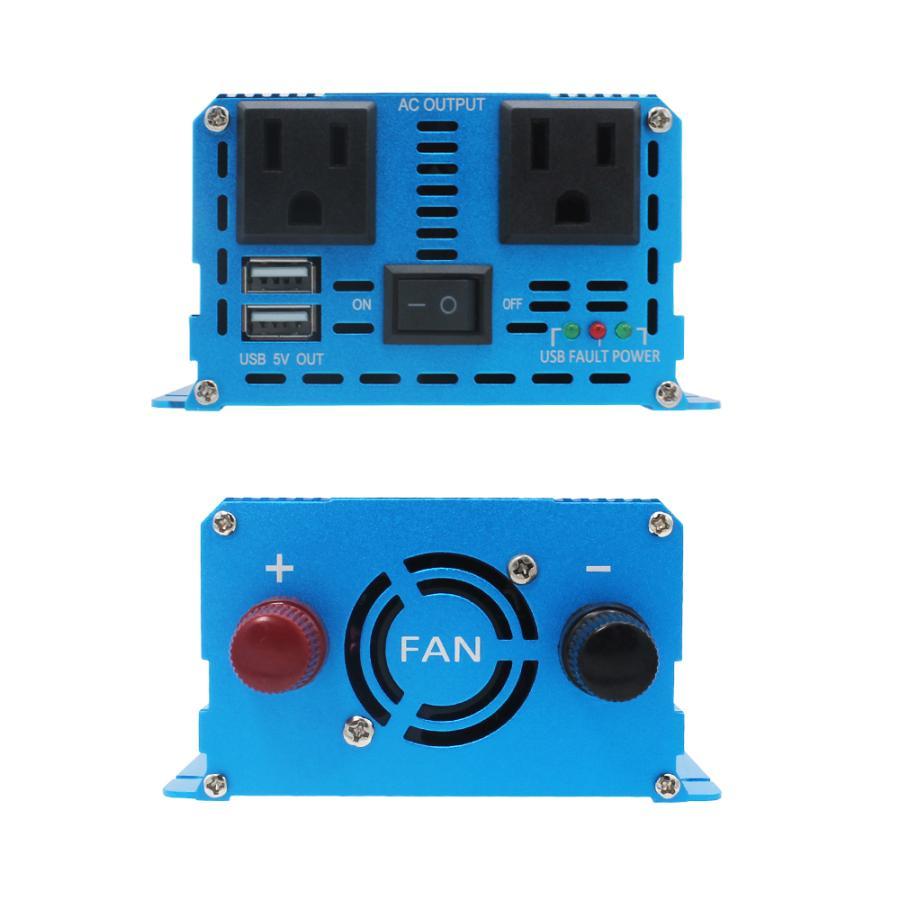 インバーター 正弦波 12V 1000W 最大 2000W DC 12V AC100V 変換 カーインバーター 太陽光発電 ソーラーパネル バッテリー充電|kshopmart|03
