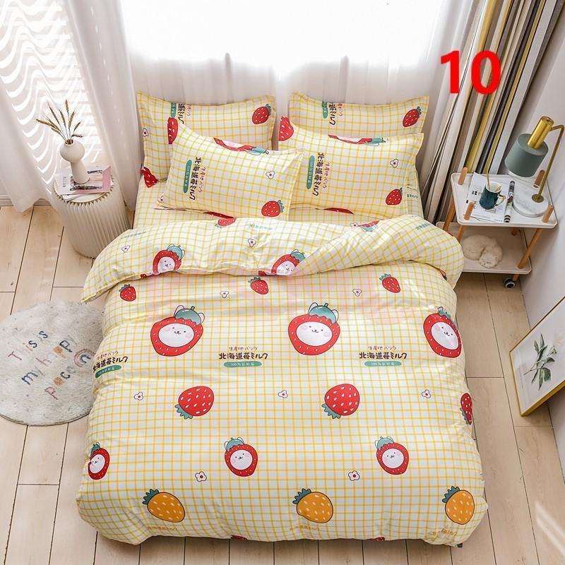 布団カバー 3点セット シングル ベッドカバー 寝具セット 枕カバー おしゃれ  ボックスシーツ 防臭 防ダニ 北欧風 コットン 柔らかい 可愛い 4点セミダブル|ksmc-shop|10