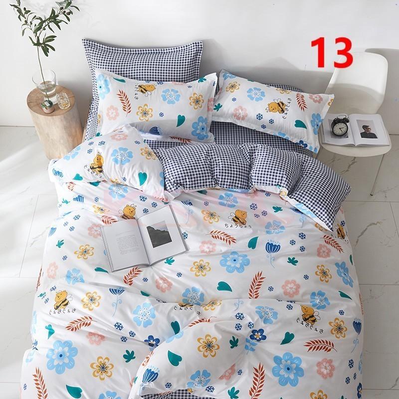 布団カバー 3点セット シングル ベッドカバー 寝具セット 枕カバー おしゃれ  ボックスシーツ 防臭 防ダニ 北欧風 コットン 柔らかい 可愛い 4点セミダブル|ksmc-shop|13