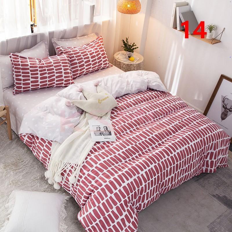 布団カバー 3点セット シングル ベッドカバー 寝具セット 枕カバー おしゃれ  ボックスシーツ 防臭 防ダニ 北欧風 コットン 柔らかい 可愛い 4点セミダブル|ksmc-shop|14