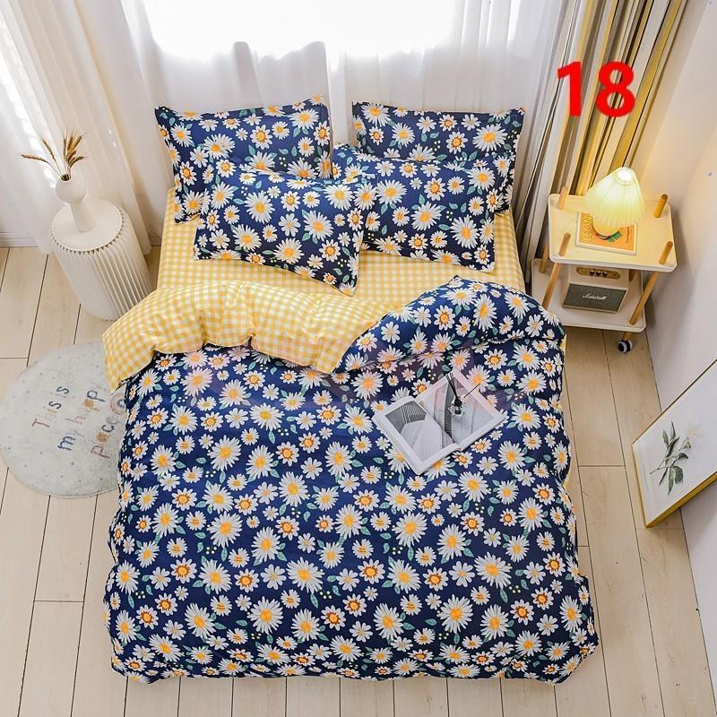 布団カバー 3点セット シングル ベッドカバー 寝具セット 枕カバー おしゃれ  ボックスシーツ 防臭 防ダニ 北欧風 コットン 柔らかい 可愛い 4点セミダブル|ksmc-shop|18