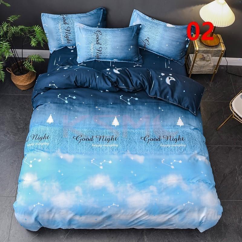 布団カバー 3点セット シングル ベッドカバー 寝具セット 枕カバー おしゃれ  ボックスシーツ 防臭 防ダニ 北欧風 コットン 柔らかい 可愛い 4点セミダブル|ksmc-shop|03