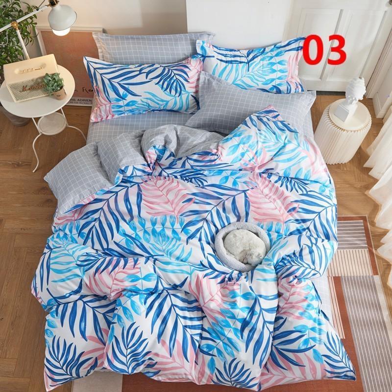 布団カバー 3点セット シングル ベッドカバー 寝具セット 枕カバー おしゃれ  ボックスシーツ 防臭 防ダニ 北欧風 コットン 柔らかい 可愛い 4点セミダブル|ksmc-shop|04