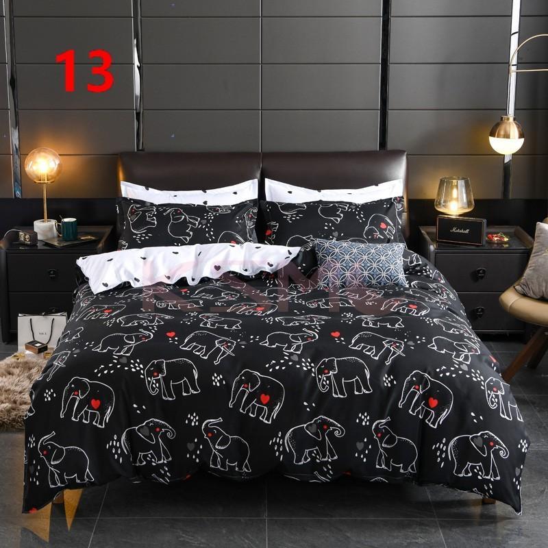 布団カバー セット シングル ベッドカバー 寝具セット 枕カバー おしゃれ 四季通用 北欧風 柔らかい 洗える 防ダニ 洋式和式兼用 セミダブル ダブル クイーンhq|ksmc-shop|14
