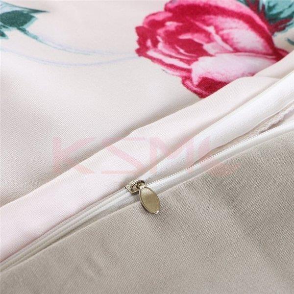 布団カバー 4点セット セミダブル 掛け布団カバー 枕カバー 寝具セット ベッド用 洋式和式兼用 四季通用 肌に優しい ギフト プレゼント 花柄|ksmc-shop|12