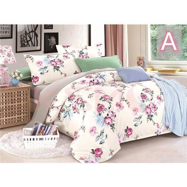 布団カバー 4点セット セミダブル 掛け布団カバー 枕カバー 寝具セット ベッド用 洋式和式兼用 四季通用 肌に優しい ギフト プレゼント 花柄|ksmc-shop|15