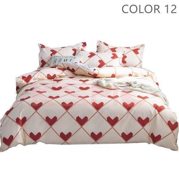 ベッドカバー 布団カバー セット シングル セミダブル ダブル 寝具セット 枕カバー おしゃれ 四季通用 北欧風 柔らかい クイーン 防ダニ 洋式和式兼用 可愛い|ksmc-shop|13
