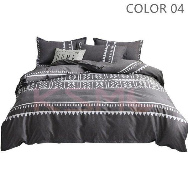 ベッドカバー 布団カバー セット シングル セミダブル ダブル 寝具セット 枕カバー おしゃれ 四季通用 北欧風 柔らかい クイーン 防ダニ 洋式和式兼用 可愛い|ksmc-shop|05