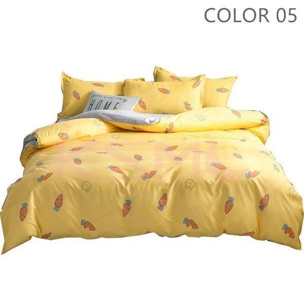 ベッドカバー 布団カバー セット シングル セミダブル ダブル 寝具セット 枕カバー おしゃれ 四季通用 北欧風 柔らかい クイーン 防ダニ 洋式和式兼用 可愛い|ksmc-shop|06