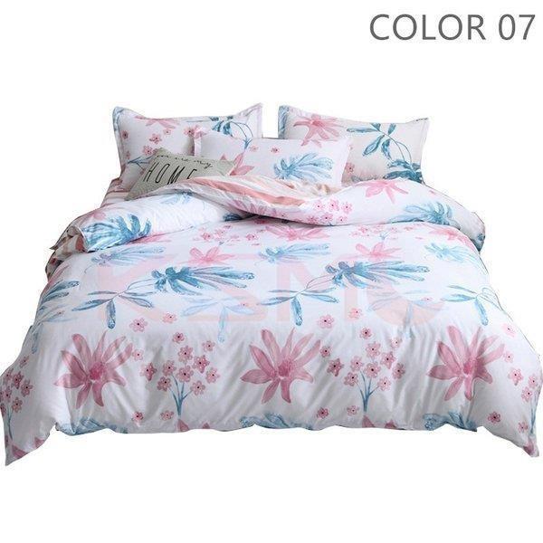 ベッドカバー 布団カバー セット シングル セミダブル ダブル 寝具セット 枕カバー おしゃれ 四季通用 北欧風 柔らかい クイーン 防ダニ 洋式和式兼用 可愛い|ksmc-shop|08